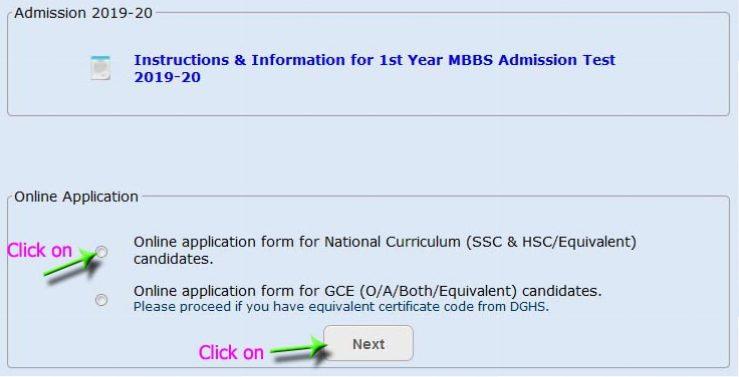 MBBS Admission 2019-20