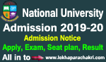 National University honours admission 2019-20